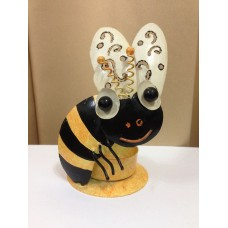 Yellow bee candle holder