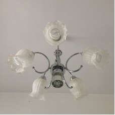 White flower ceiling lighting